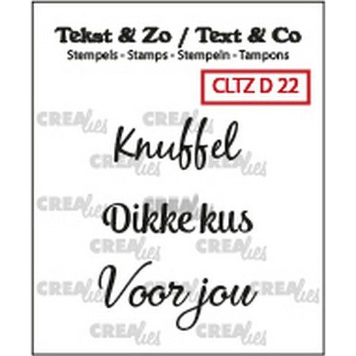 Crealies Clearstamp Tekst&Zo 3x Divers 22 (NL) CLTZD22 max. 30 mm (02-19)