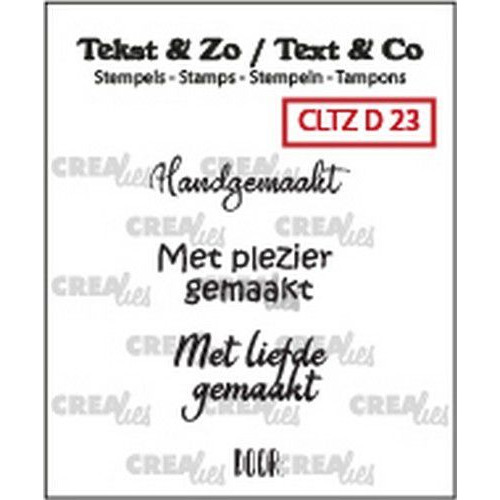 Crealies Clearstamp Tekst&Zo 4x Divers 23 (NL) CLTZD23 max. 27 mm (02-19)