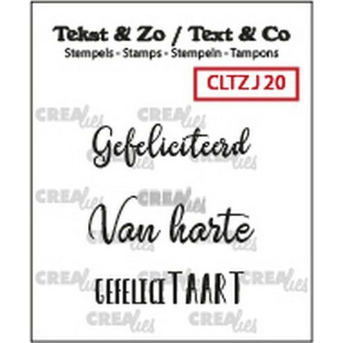 Crealies Clearstamp Tekst&Zo 3x Jarig 20 (NL) CLTZJ20 max. 32 mm (02-19)