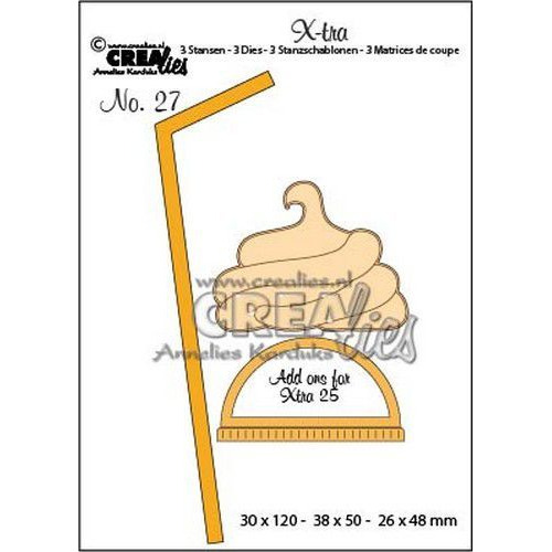 Crealies X-tra no. 27 extra's voor mok om mee te nemen (klein) CLXtra27 30 x 120 - 38 x 50 - 26 x 48