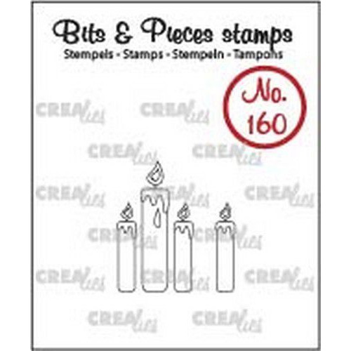 Crealies Clearstamp Bits & Pieces kaarsjes (omlijning) CLBP160 25 x 14 - 4 x 17mm (04-19)