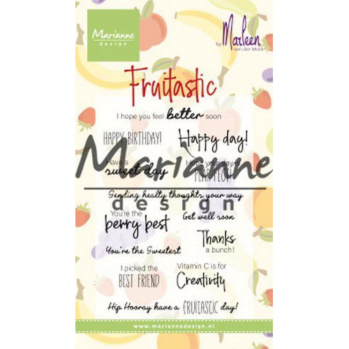 Marianne D Clear Stamps Marleen's Fruitastic CS1031 82x118mm (07-19)