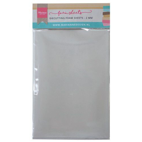 Marianne D Die cutting foam sheet A5 - 2 mm 5st zelfklevend dz LR0023 150x260x9 mm (08-19)
