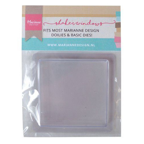 Marianne D Shaker windows - vierkant 9 cm - 4mm 10 st LR0024 105x150x15 mm (08-19)