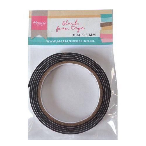 Marianne D zwart foam tape - 2 mm (12mmx2mtr) zelfklevend dz LR0027 110x160x13 mm (08-19)