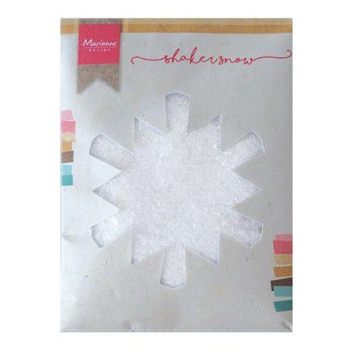 Marianne D Shaker fijne sneeuw met glitter  - 50 gr LR0028 130x160x10 mm (08-19)