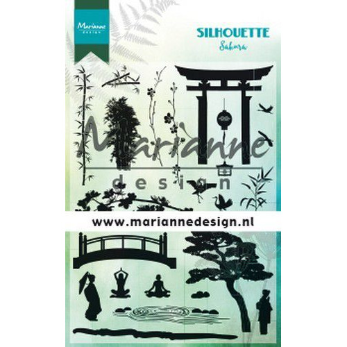 Marianne D Clear Stamps Silhouette Sakura CS1033 115x185 mm (08-19)