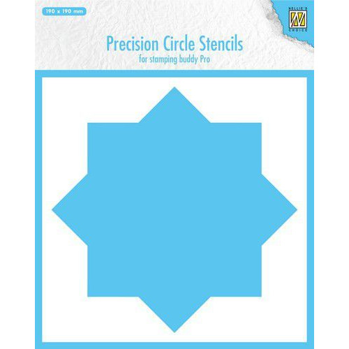 Nellie's Choice Precision stencils 8-punts cirkel MMPCS001 190x190mm (07-19)