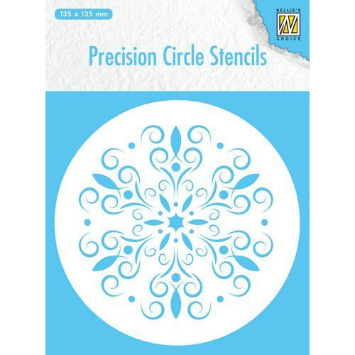 Nellie's Choice Precision stencils Rond stencil bloem MMPCS004 135x135mm (07-19)