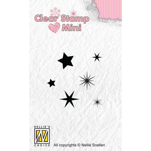 Nellies Choice Mini clearstempel - Sterren MAFS009 (07-19)