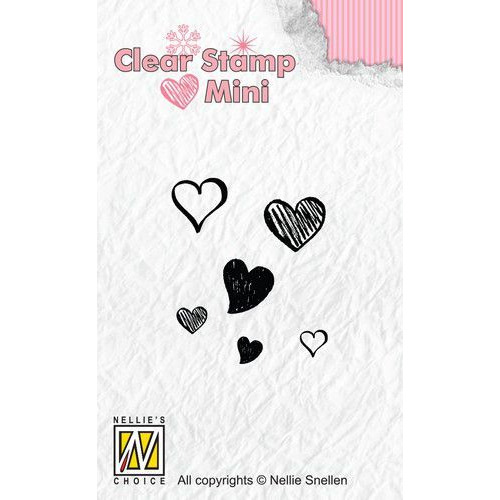 Nellies Choice Mini clearstempel - harten MAFS010 (07-19)