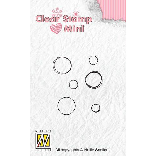 Nellies Choice Mini clearstempel - bubbles MAFS012 (07-19)
