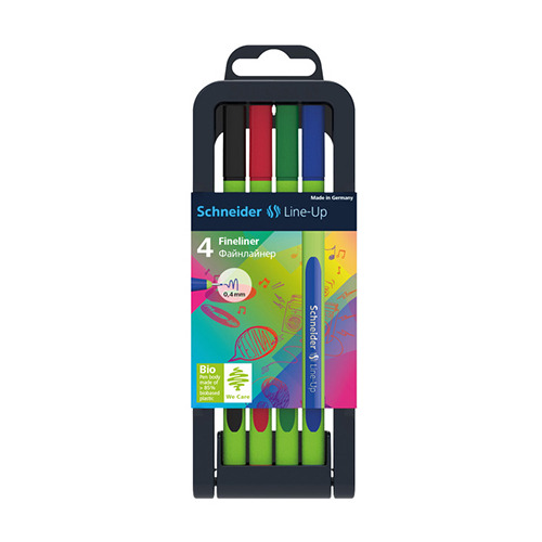 Fineliner Schneider line-up verstelbare pencil case