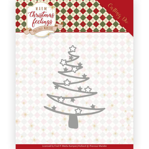 Dies - Precious Marieke - Warm Christmas Feelings - Star Tree