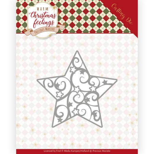 Dies - Precious Marieke - Warm Christmas Feelings - Swirl Star