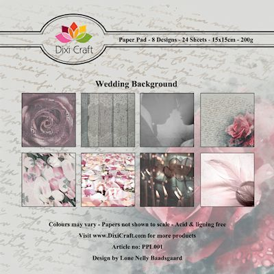 @ Dixi Paper Pack 15x15 cm wedding background