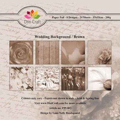 Dixi Paper Pack 15x15 cm wedding background - brown