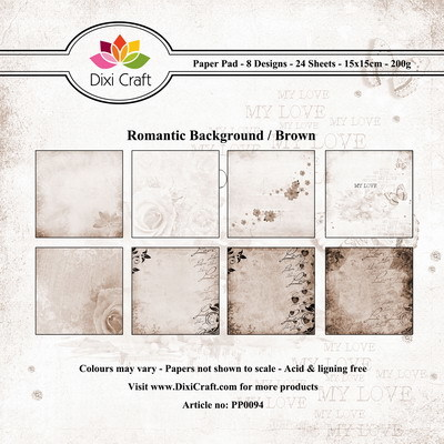 Dixi Paper Pack 15x15 cm romantic - brown