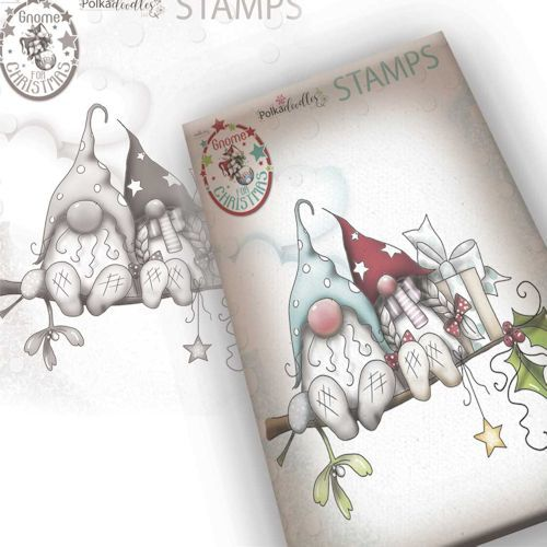 Polkadoodles stamp Gnome - Christmas love