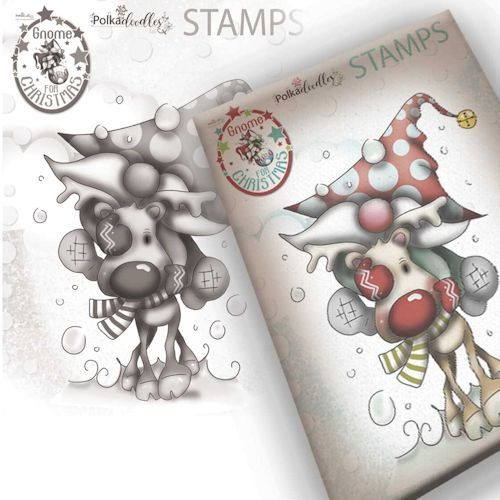 Polkadoodles stamp Gnome - Let's go !