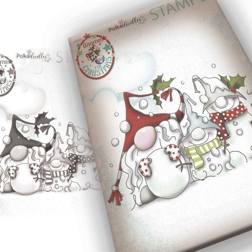Polkadoodles stamp Gnome - Snow gnomes