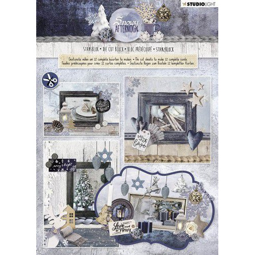 Studio Light Die cut blocs A4 12 vel Snowy Afternoon 84 STANSBLOKSA84 (08-19)