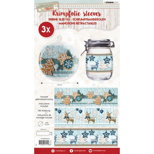 Studio Light krimpfolie 318x93 mm Scandinavian Winter nr 62 SHRINKSD62 (08-19)