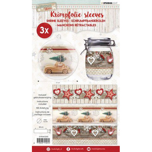 Studio Light krimpfolie 380x110 mm Scandinavian Winter nr 65 SHRINKSD65 (08-19)