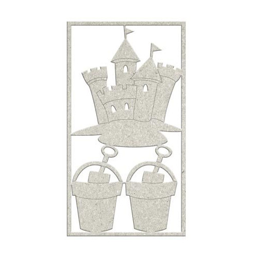 Embellishment- 1 x Sandcastle & 2 x Buckets