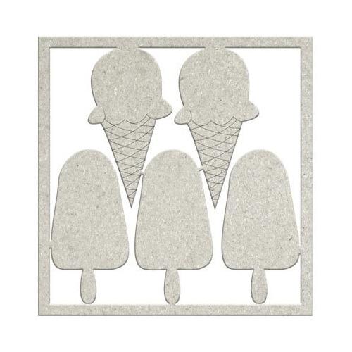 Embellishment - 2 x Cones & 3 x Lollies