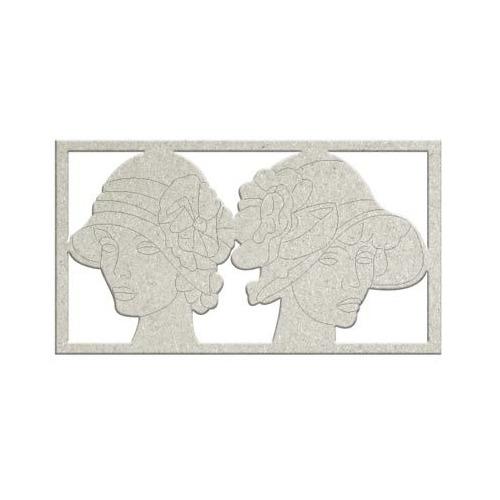 Embellishment - 2 x Ladies with hats