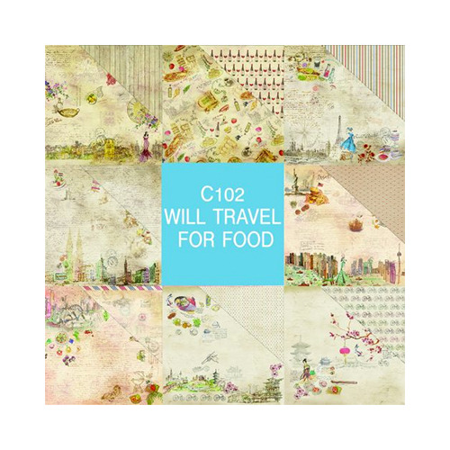 Will Travel For Food Paper Pad