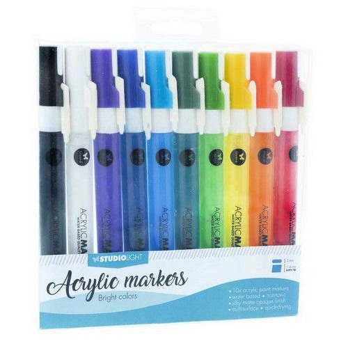 Studio Light Box 10 acrylic markers Bright Colors nr 01 AMSL01 (08-19)