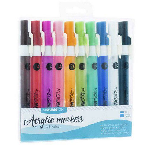 Studio Light Box 10 acrylic markers Soft Colors nr 02 AMSL02 (08-19)