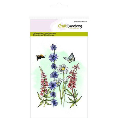 CraftEmotions clearstamps A6 - veldbloemen 2 GB (07-19)