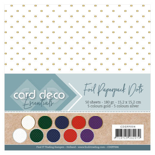 Card Deco Essentials - Foil Paperpack Dots