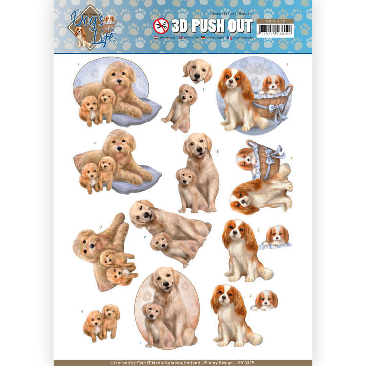 3D Pushout - Amy Design - Dog's Life - Dog Mommy