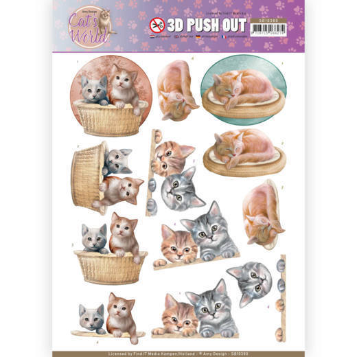 3D Pushout - Amy Design - Cats World - Kittens