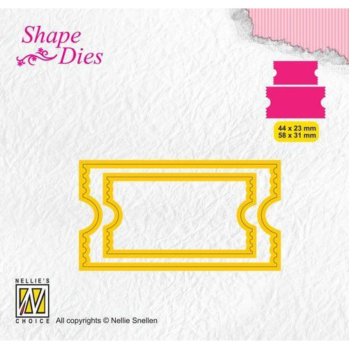 Nellies Choice Shape Die - ticket & tags - ticket 2 SD171 44x23/58x31mm (08-19)