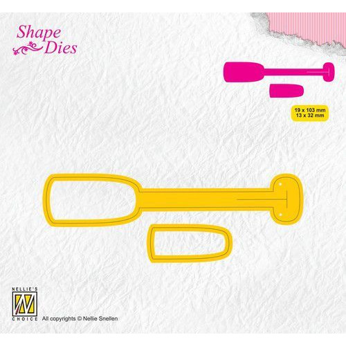 Nellies Choice Shape Die - ticket & tags - tag 1 SD173 19x103/13x32mm (08-19)