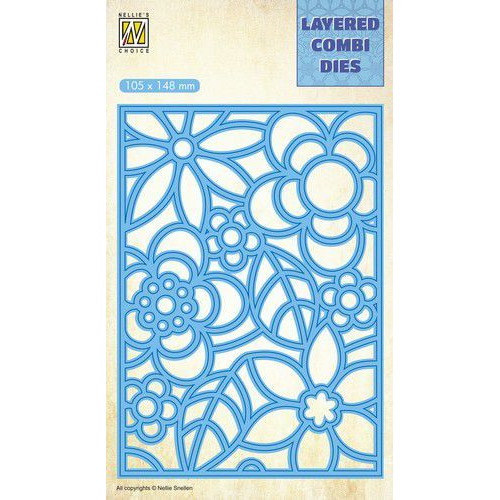 Nellie's Choice Layered Combi Die flowers-3 laag A LCDB004 105x148mm (08-19)