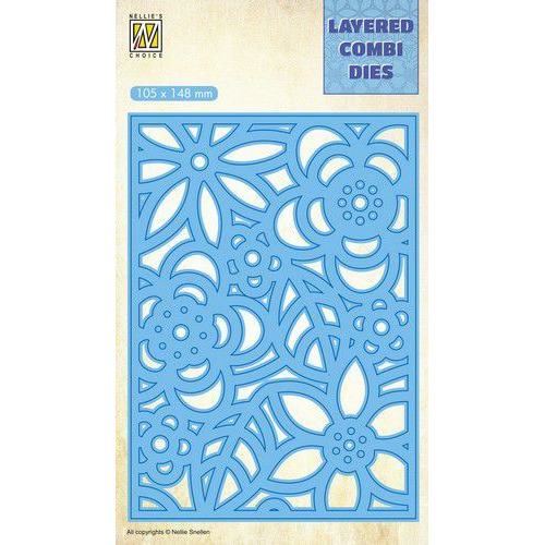 Nellie's Choice Layered Combi Die flowers-3 laag B LCDB005 105x148mm (08-19)