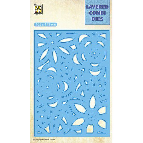 Nellie's Choice Layered Combi Die flowers-3 laag C LCDB006 105x148mm (08-19)