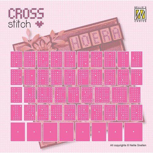 Nellie's Choice Cross Stitch Dies alfabet & cijfers CSD001 15x15/10x15mm (08-19)