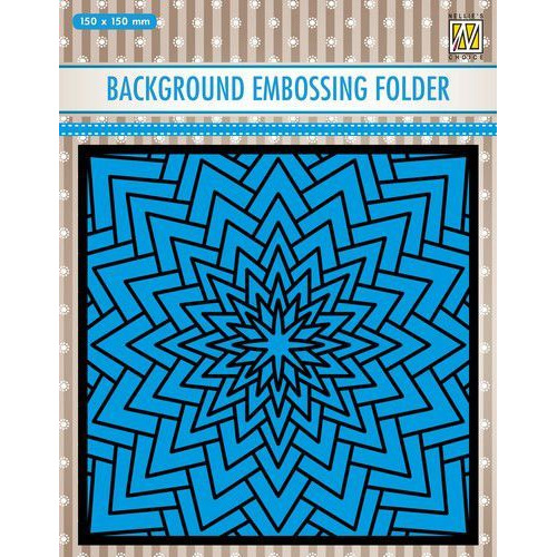 Nellies Choice Emb.folder Achtergrond grote ster EEB022 150x150mm (09-19)