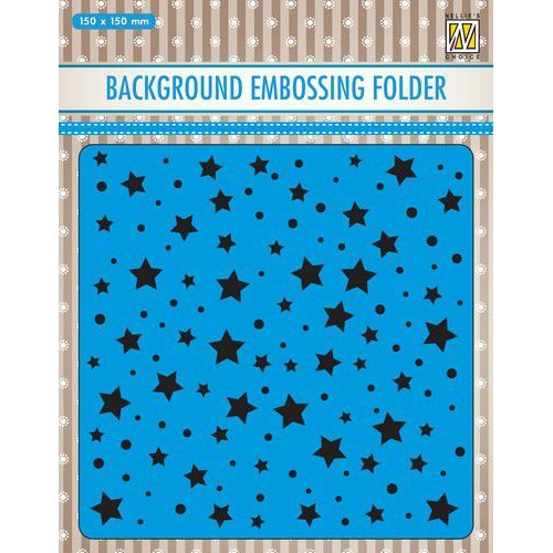 Nellies Choice Emb.folder Achtergrond stars & dots EEB023 150x150mm (09-19)