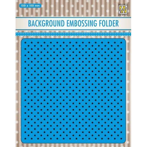 Nellies Choice Emb.folder Achtergrond kleine sterren EEB024 150x150mm (09-19)