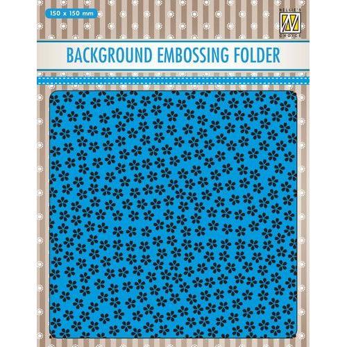 Nellies Choice Emb.folder Achtergrond kleine bloemen EEB025 150x150mm (09-19)