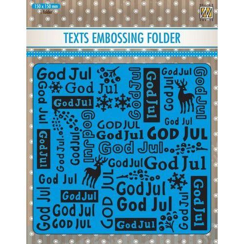 Nellie's Choice Text Emb.folder: God Jul DSTXT009 150x150mm (09-19)