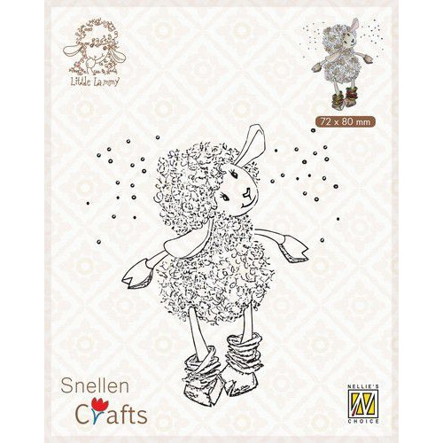 Nellie's Choice Clear stamps Little Lammy It's snowing!! SCLOLA002 72x80mm (08-19)